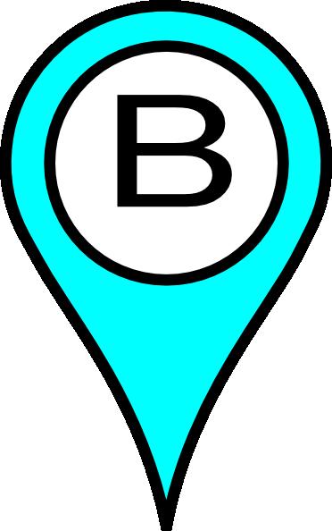 Pin clip art at. B clipart blue