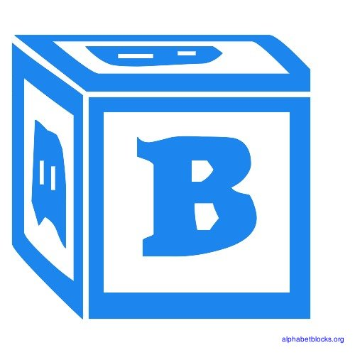 B clipart blue. Block