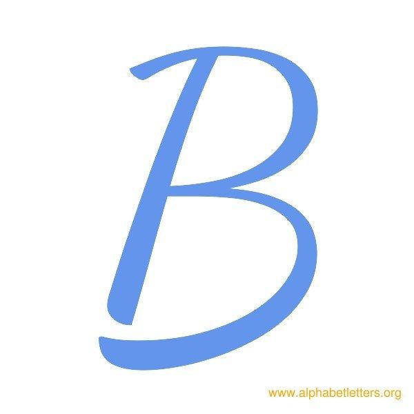 Alphabet letters . B clipart blue