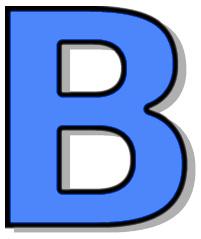Capitol signs symbol alphabets. B clipart blue