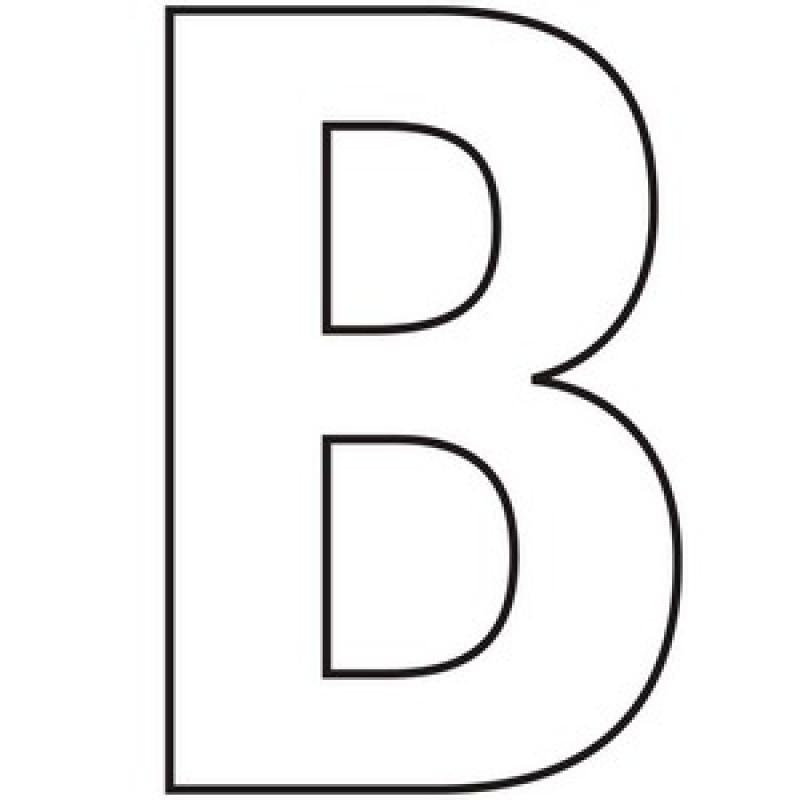 B clipart bold. Initial monogram self adhesive