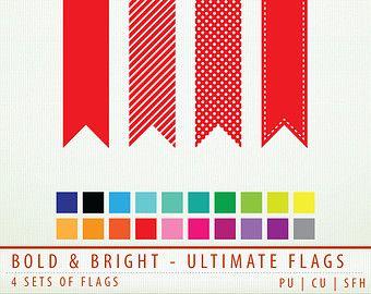 Clip art flags pieces. B clipart bold