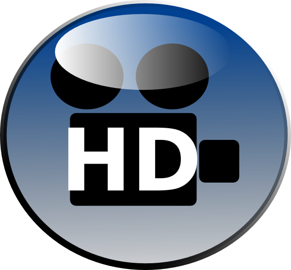 Hd video bold clip. Clipart definition illustration