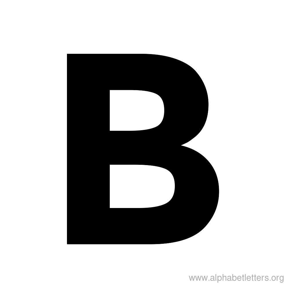 Download shaped letter alphabets. B clipart bold