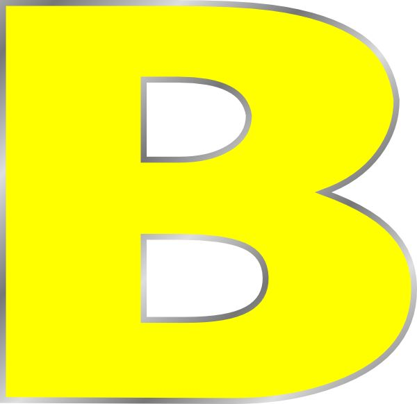 best bag images. B clipart bubble letter