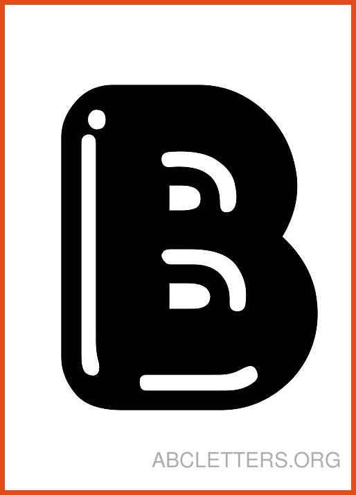B clipart bubble letter. Moa format