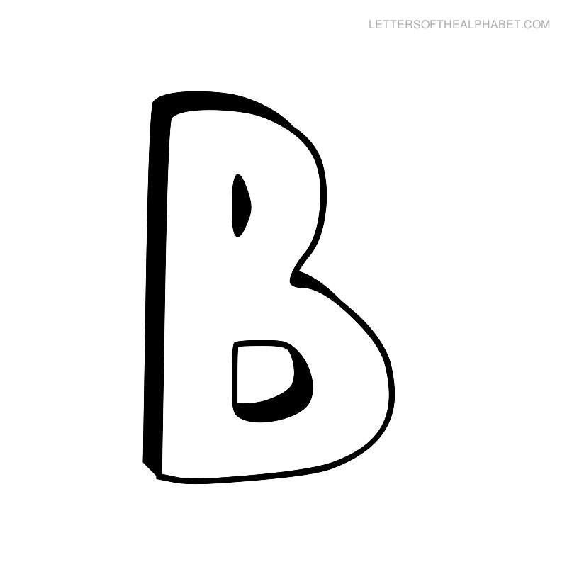 Letters of the alphabet. B clipart bubble writing