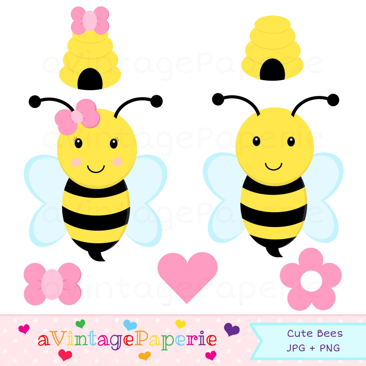 Clip art commercial use. Bees clipart bumble bee