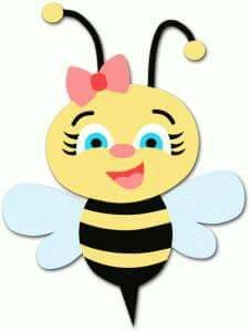 Bee coloring page grandbabies. B clipart bumblebee craft