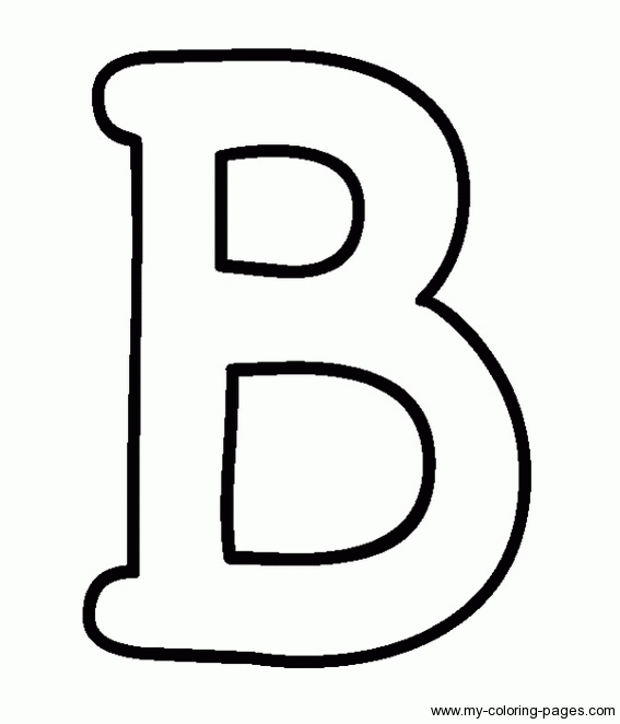B clipart capital letter. I coloring page master