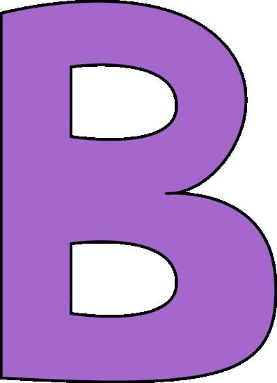 B clipart capital letter. Purple clip art image