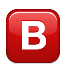 Ios emoji negative squared. B clipart captial
