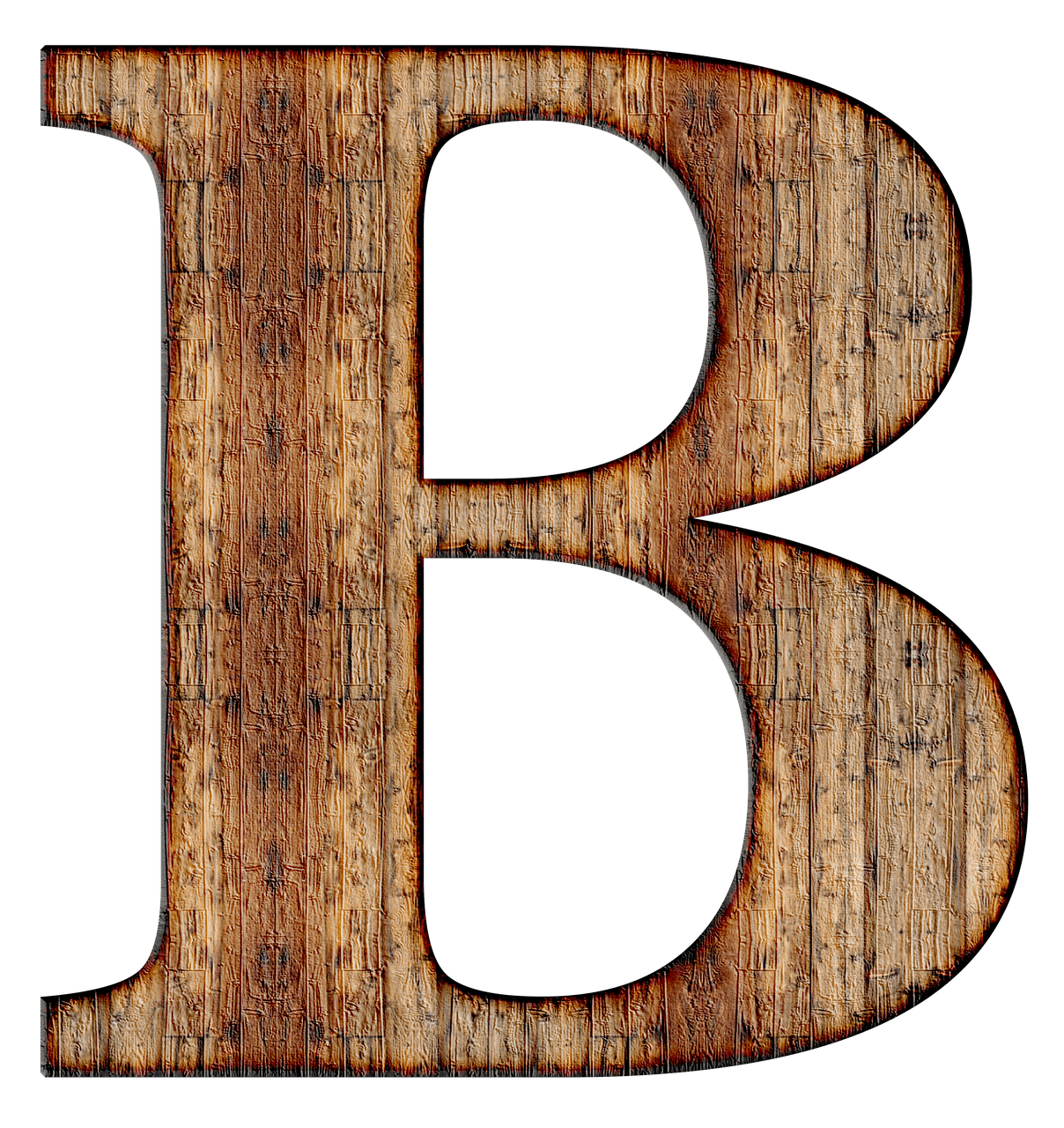 B clipart captial. Wooden capital letter transparent
