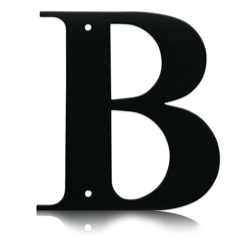 B clipart captial. Wrought iron letter larger