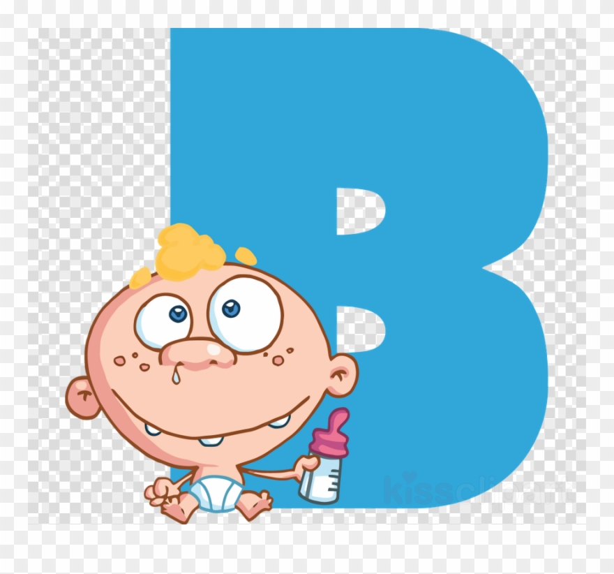 B clipart cartoon. Letter alphabet for