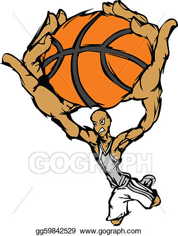 Vector art basketball player. B clipart cartoon