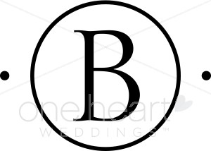 Wedding monograms. B clipart circle monogram