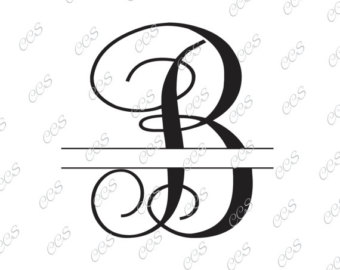 Svg etsy digital cut. B clipart circle monogram