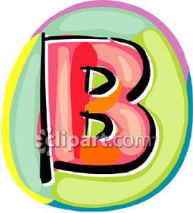 Letter royalty free picture. B clipart colorful
