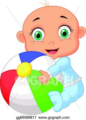 B clipart colorful. Vector art baby boy