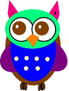 B clipart colorful. Baby owl clip art