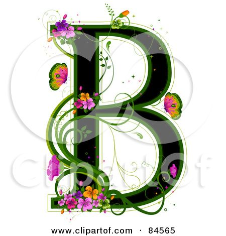 Royalty free rf illustration. B clipart colorful