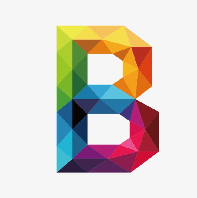 B clipart colorful. Letters letter colour png