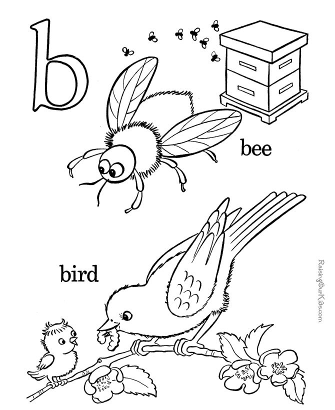 B clipart colouring.  best preschool images