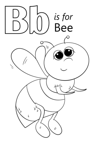 Letter is for bee. B clipart colouring