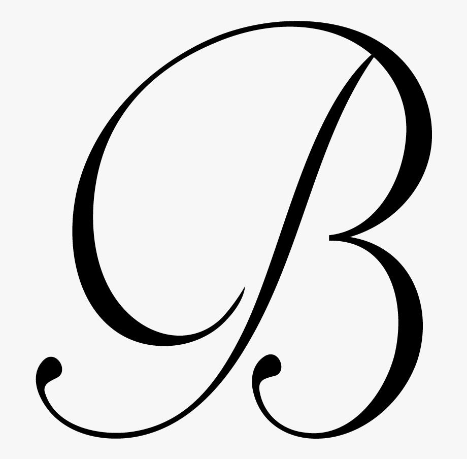 B clipart cursive. Letter png file download