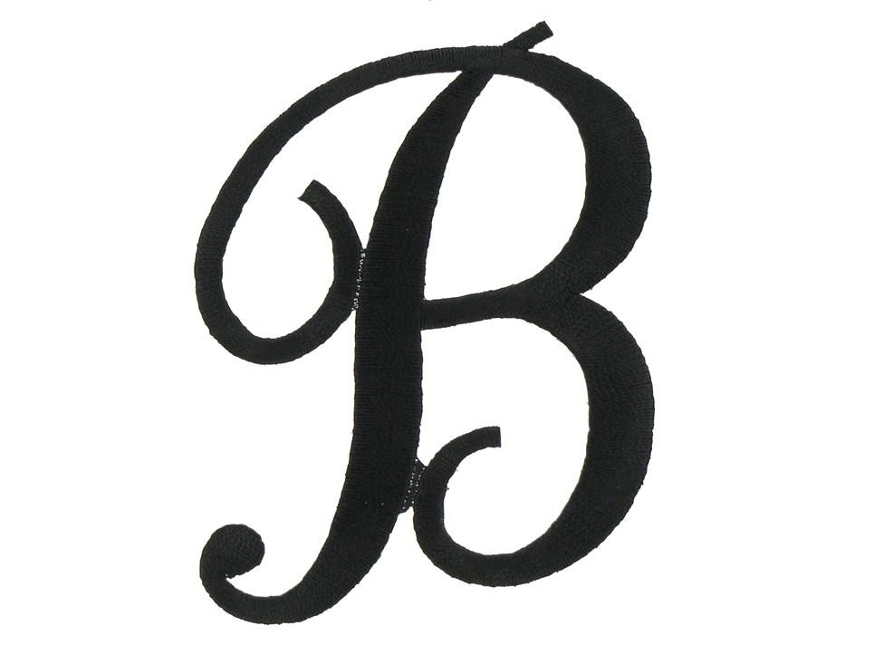 Letter script letters font. B clipart cursive