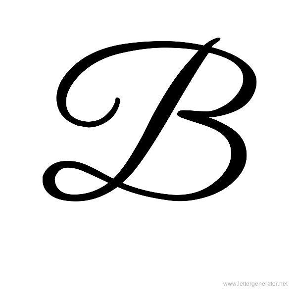 Alphabet gallery free printable. B clipart cursive