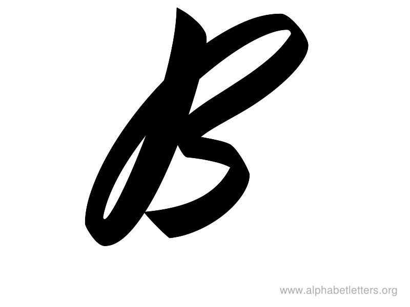 Alphabet letters printable letter. B clipart cursive