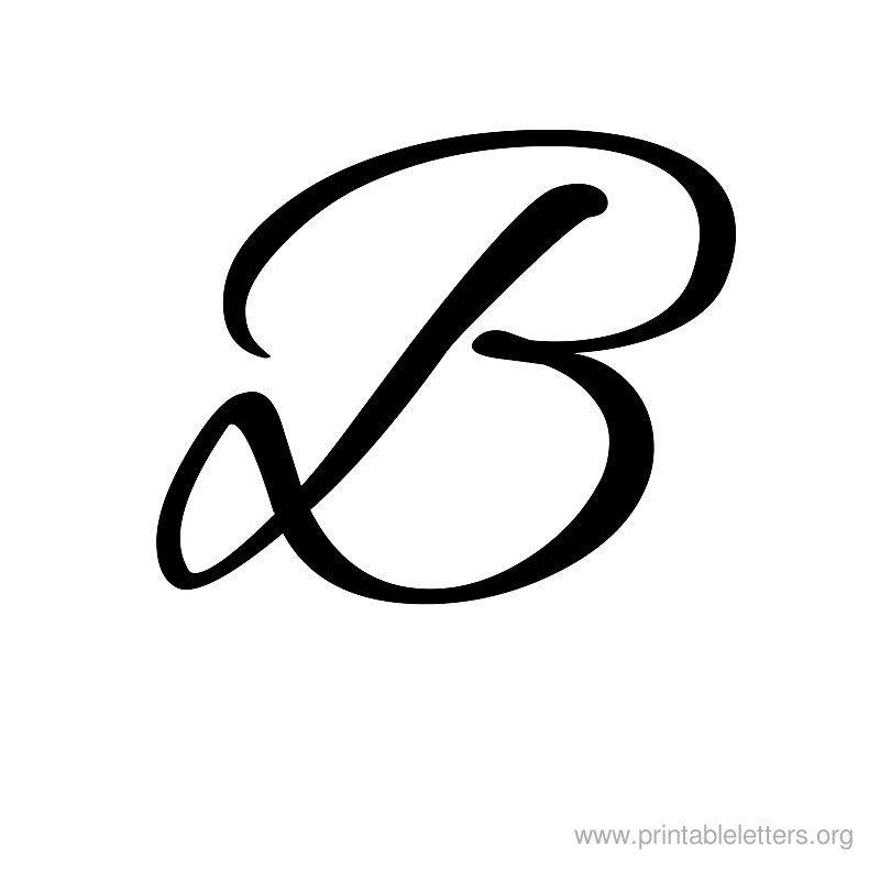 B clipart cursive. Printable letters letter for