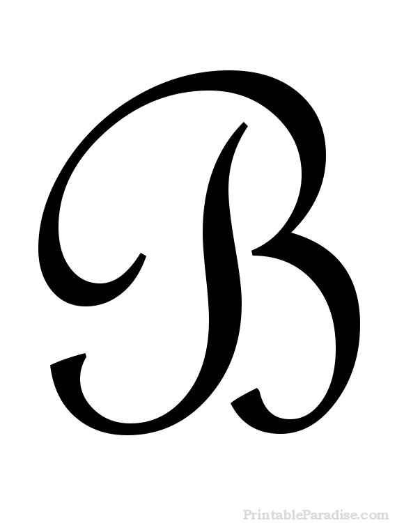 B clipart cursive. Letter a in free