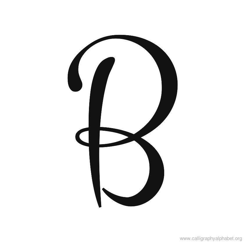 B clipart cursive. Logo logodix