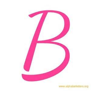 Letter pink diy crafts. B clipart cursive