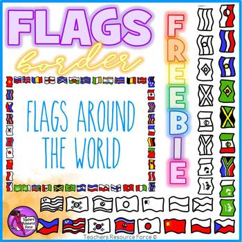 B clipart doodle. Flag border style by
