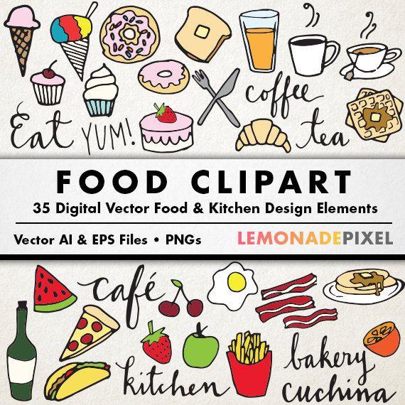 B clipart doodle. Food clip art hand