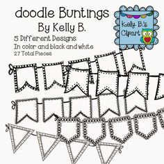 B clipart doodle.  free frames and