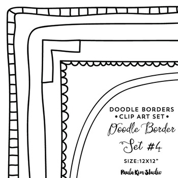 Square borders teaching resources. B clipart doodle