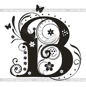B clipart fancy. Letter designs letters design