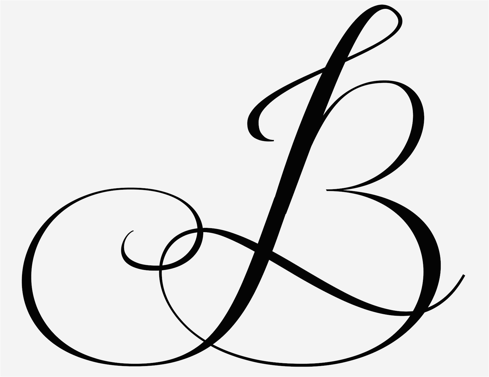B clipart fancy. Cool letter designs new