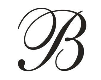 B clipart fancy. Cursive capital letters