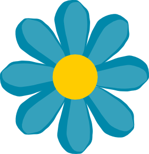 April clipart flower. Blue clip art at