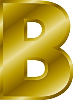 B clipart gold. Free letter graphics images