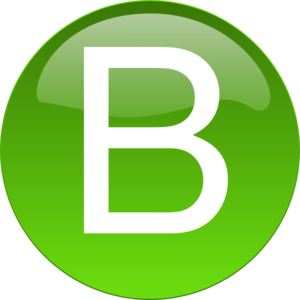 B clipart green. Clip art at clker