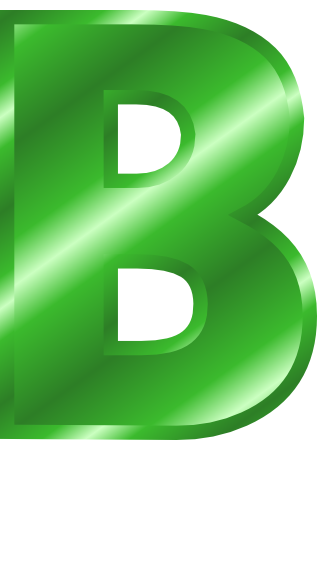 Metal letter capitol signs. B clipart green