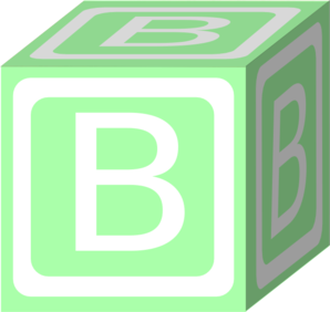 B clipart green. Block clip art at