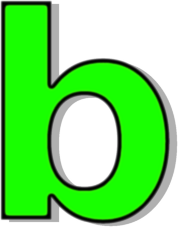 Lowercase signs symbol alphabets. B clipart green